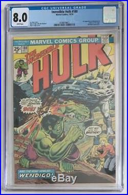 (1974) INCREDIBLE HULK #180 CGC 8.0! WP! 1st CAMEO APPEARANCE OF WOLVERINE
