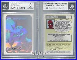 1990 Impel Marvel Comics Super Heroes Holograms Wolverine #MH4 BGS 8 0u7