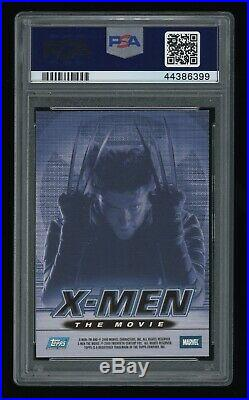 2000 Topps X-Men Movie Hugh Jackman Wolverine Marvel Comic AUTO PSA 9 Signed