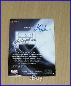 2020 Marvel Masterpieces Palumbo sketch 1/1 Mick/Matt Glebe WOLVERINE