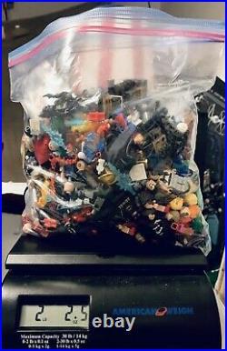 2.2 LBS Lego Minifigures Marvel DC Bulk Lot Comic Figs Weapons Torsos Heads Etc