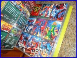 4 Complete Set 500 Comic Card Marvel Fleer Ultra Xmen 1994-96 & Wolverine Binder