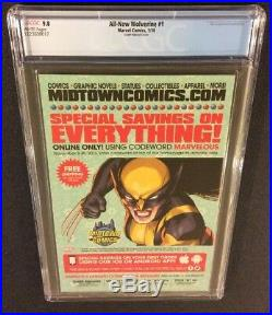 ALL NEW WOLVERINE #1 Comic Book CGC 9.8 HIP HOP Variant X-23 DMX Homage Cover