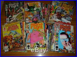 Alpha Flight 1-75 + Anns 1-2 Etc Marvel Comics Wolverine Spiderman Set (77)