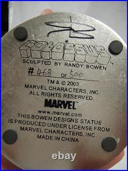 BOWEN DESIGNS COLOSSUS SUPER CHROME MINI-STATUE MIB! MARVEL X-MEN Sideshow Bust