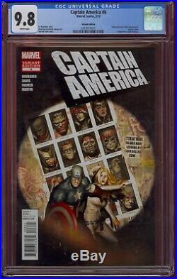 Captain America #6 Cgc 9.8 150 Variant (2012) X-men #141 Swipe Comic Kings