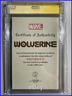 Cgc Ss 9.8 Wolverine # 1 C2e2 Christopher Variant Signed Benjamin Percy 17/3000