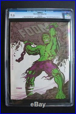 FOOM #2 WOLVERINE Prototype 1974 Marvel Zine Predates HULK #181 Steranko CGC 9.6