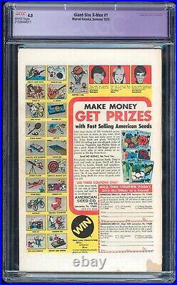 Giant Size X-Men #1 Marvel 1975 CGC 4.0 White VG 1st New Team, 2nd Wolverine