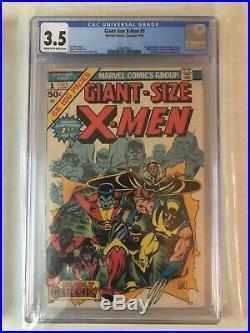 Giant Size X-men Comic #1 Cgc 3.5 Marvel 1975 1st New Team! Wolverine