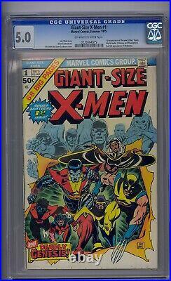 Giant-size X-men #1 Cgc 5.0 1st New X-men Team 2nd Full Wolverine