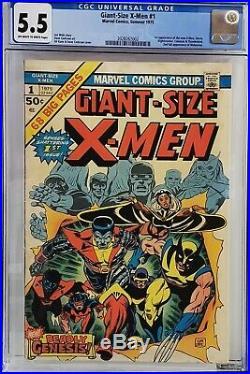 Giant-size X-men #1 Cgc 5.5 1st Storm Nightcrawler Colossus 2nd Wolverine