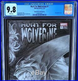 HUNT FOR WOLVERINE #1 CGC 9.8 Kubert 11000 Remastered Sketch Wraparound Variant