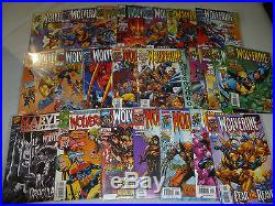 Huge Vintage Xmen Wolverine Marvel Comic Book Lot 270+ Comics Saga Annual Origin