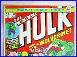 Hulk #181 (1st Full Appearance Of Wolverine) Huge Mega Key Issue Mid-high Grade
