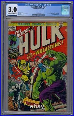 Hulk 181 Cgc 3.0 1st Full Wolverine