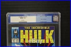 Hulk 340 Cgc 9.8 Old Label Wolverine Classic Cover Todd Mcfarlane