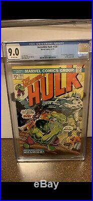 Incredible Hulk #180 CGC 9.0 OW Pages First Appearance of WOLVERINE