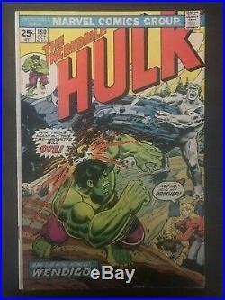 Incredible Hulk #180 first printing original 1974 Marvel Comic Book Wolverine