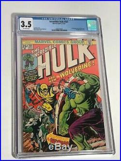 Incredible Hulk #181 1st app Wolverine CGC 3.5 Marvel Comics 1974