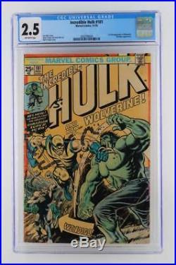 Incredible Hulk #181 CGC 2.5 GD+ Marvel 1974- Wendigo 1st App of Wolverine