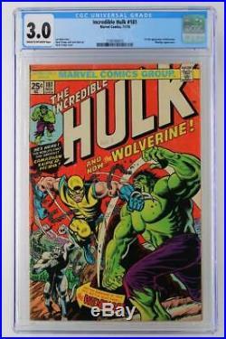 Incredible Hulk #181- CGC 3.0 GD/VG Marvel 1974 Wendigo 1st App Wolverine