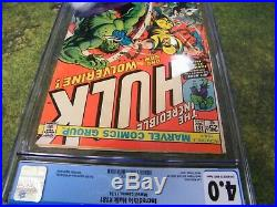 Incredible Hulk #181 CGC 4.0 1st Appearance of Wolverine