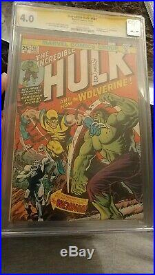 Incredible Hulk #181 CGC 4.0 SS OW KEY 1st Wolverine SIGNED BY LEN WEIN