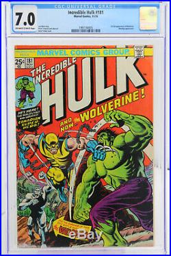 Incredible Hulk # 181 CGC 7.0 Marvel 1974 1st full appearance of Wolverine