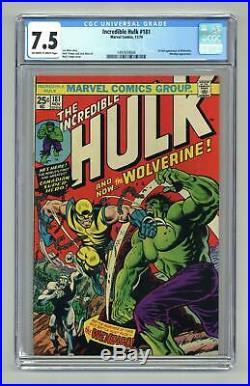 Incredible Hulk #181 CGC 7.5 1974 1497659004 1st app. Wolverine (full non-cameo)