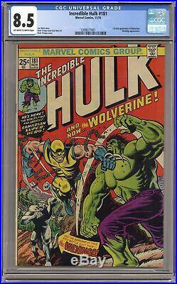 Incredible Hulk #181 CGC 8.5 1974 1209077001 1st app. Wolverine (full non-cameo)