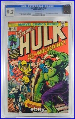 Incredible Hulk #181 CGC 9.2 1st Full Appearance Wolverine