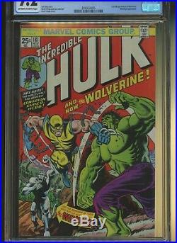 Incredible Hulk 181 CGC 9.2 ^ Marvel 1974 ^ 1st Full Wolverine. Wendigo App