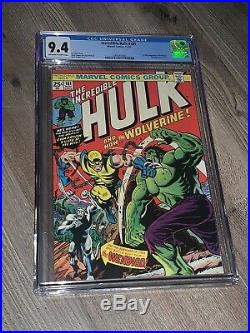 Incredible Hulk 181 CGC 9.4 NM OWithW 1st Appearance of Wolverine Marvel 1974 NICE