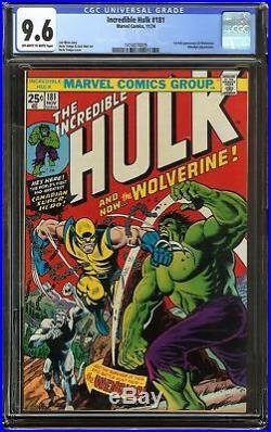 Incredible Hulk #181 CGC 9.6 1st full app WOLVERINE vs HULK Battle cover Marvel