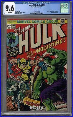 Incredible Hulk #181 CGC 9.6 (W) 1st Appearance of Wolverine X-Men
