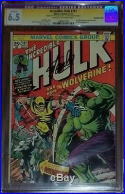 Incredible Hulk 181 CGC SS 6.5 Signed by Stan Lee 1st App Wolverine HOT KEY