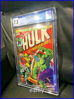 Incredible Hulk #181 Cgc 7.5 Great Condition First Appearance Wolverine Hot