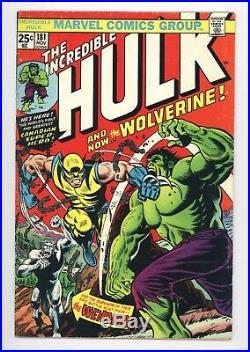 Incredible Hulk #181 Vol 1 Beautiful Higher Grade 1st App of Wolverine with MVS