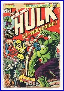 Incredible Hulk #181 Vol 1 Low Grade 1st App of Wolverine No Marvel Stamp