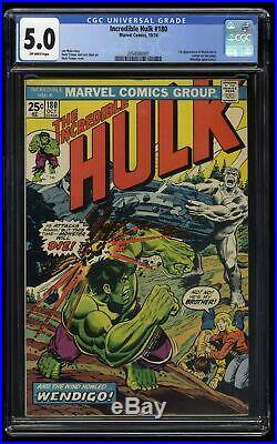 Incredible Hulk (1968) #180 CGC VG/FN 5.0 Off White 1st Cameo Wolverine