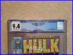 Incredible Hulk 340 CGC 9.4, perfect case! Marvel Comics, Wolverine