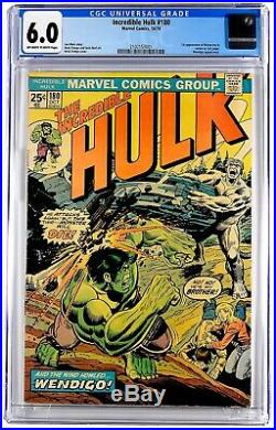 Incredible hulk 180 First Appearance Of Wolverine Cameo CGC GRADE 6.0 Fresh