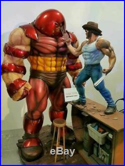 Juggernaut VS Wolverine Logan Statue Sculpt Art / Nt XM Sideshow Prime 1 Marvel