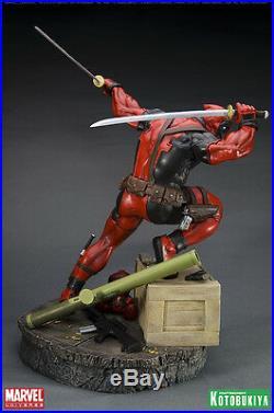 Kotobukiya Deadpool Fine Art Statue New Rare Marvel X-men Wolverine Not Sideshow