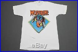 L NOS vtg 80s 1988 WOLVERINE marvel comic t shirt C14