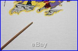 L NOS vtg 80s 1989 WOLVERINE The Black Blade marvel comic t shirt 36.121