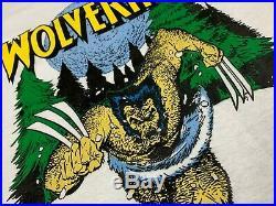 L NOS vtg 80s 1989 WOLVERINE marvel comic t shirt