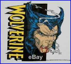 L NOS vtg 80s 1989 WOLVERINE marvel comic t shirt large 21.147