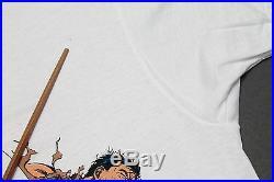 L NOS vtg 80s 1989 WOLVERINE x PUNISHER marvel comic t shirt 21.148